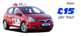 Learn how to drive - lessons from £15 per hour - click for driving lessons price list